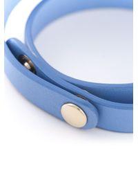 Ferragamo - Blue Vara Bow Bracelet - Lyst