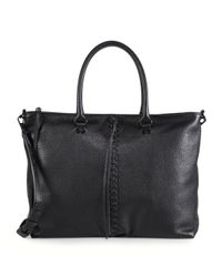 Rebecca Minkoff | Black Moto Leather Zip Tote | Lyst