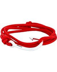 Miansai - Red Hook On Rope Bracelet for Men - Lyst