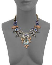 Cara | Multicolor Jeweled Bib Necklace | Lyst