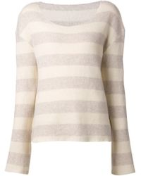 The Elder Statesman - Natural Cutter Sweater - Lyst