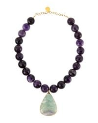 Devon Leigh | Blue Amethyst Beaded Fluorite Pendant Necklace | Lyst