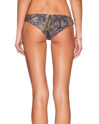 RVCA - Black Island Punk Cheeky Bikini Bottoms - Lyst