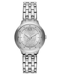 Armani Exchange | Metallic Pave Dial Bracelet Watch | Lyst