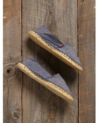 Free People - Blue Vintage Denim Espadrilles - Lyst