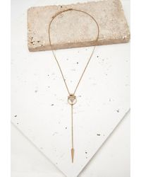 Forever 21 - Pink -inspired Drop Necklace - Lyst