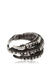 Ann Demeulemeester | Metallic Pigeon Claw Silver Ring | Lyst