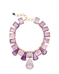 Bounkit | Purple Faceted Amethyst Necklace | Lyst