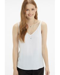 Oasis - Metallic Mixed Shape Layered Necklace - Lyst