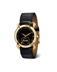 TOPSHOP | Womens Moschino Fashion Victim Black Scarf Watch with Interchangeable Black Strap Black | Lyst