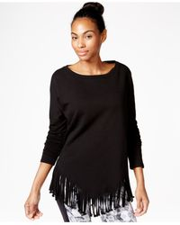 Betsey Johnson | Black Fringed Top | Lyst