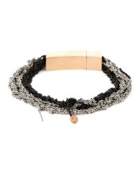 Arielle De Pinto | Black Crocheted Chain Bracelet | Lyst