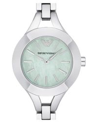 Emporio Armani - Metallic Bracelet Watch - Lyst