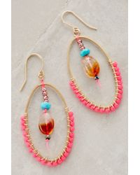 Bluma Project - Orange Blushed Droplet Hoops - Lyst
