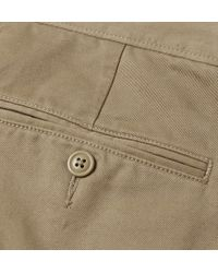J.Crew - Green Urban Tapered Cotton-Twill Trousers for Men - Lyst