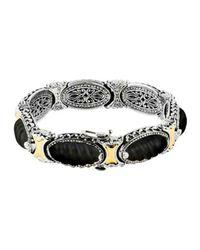 Konstantino | Metallic Penelope Sterling Silver Etched Link Bracelet | Lyst