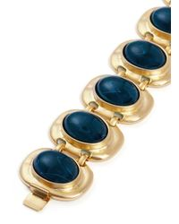Kenneth Jay Lane - Blue Stone Station Bracelet - Lyst