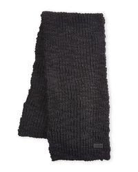 John Varvatos - Black Knit Scarf for Men - Lyst