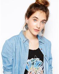 Zandra Rhodes - Black Wiggle Earrings - Lyst