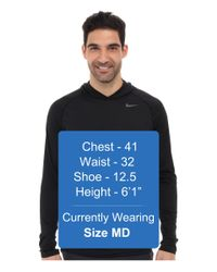 Nike - Black Dri-Fit™ Touch L/S Hoodie for Men - Lyst