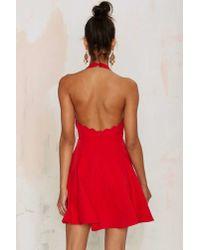 Nasty Gal - Red Love & Kisses Halter Dress - Lyst