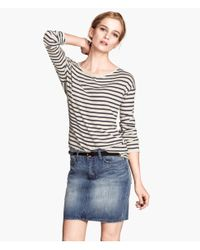 H&M | Blue Denim Skirt | Lyst