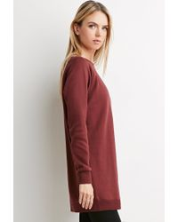 Forever 21 | Purple Contemporary Longline Sweatshirt Tunic | Lyst