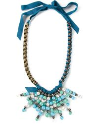 Lanvin | Blue Beaded Necklace | Lyst