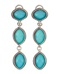 Lagos | Blue Venus Crystal Turquoise Doublet Tripledrop Earrings | Lyst