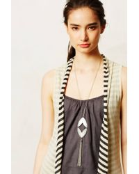 Anthropologie - Metallic Valley Bolo Necklace - Lyst