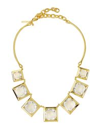 Lele Sadoughi | Metallic Celestial Galaxy Rock Crystal Necklace | Lyst