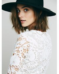 Free People | White Stone Cold Fox Womens Charlie Blouse | Lyst