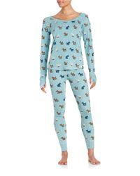 Munki Munki - Blue Scottie Pajama Set - Lyst