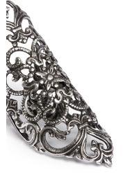 Ela Stone - Metallic 'dentelle' Lace Filigree Ring - Lyst