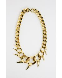 Nicole Miller | Metallic Fin Oversized Collar Necklace | Lyst