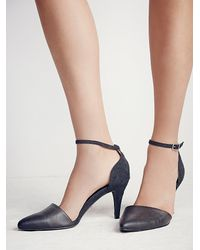 Free People - Black Vegan Slope Heel - Lyst