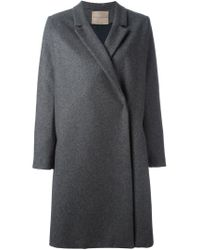 Erika Cavallini Semi Couture - Gray Notched Lapel Coat - Lyst