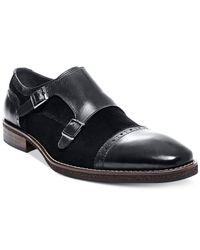 Steve Madden | Black Patroll Double Monk Loafers for Men | Lyst