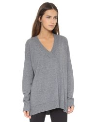 Vince - Gray Wool and Cashmere Blend Sweater - Lyst