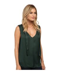 Velvet By Graham & Spencer | Green Shandy Tank Blouse | Lyst