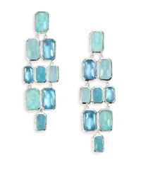 Ippolita | Rock Candy Aquamarine, Blue Topaz, Labradorite, Mother-Of-Pearl & Sterling Silver Brick Cascade | Lyst