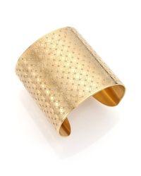 Michael Kors | Metallic Heritage Monogram Logo Cuff Bracelet | Lyst