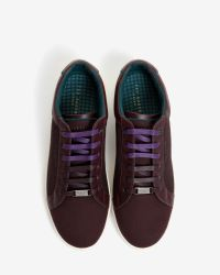 Ted Baker | Red Leather And Textile Trainers for Men | Lyst