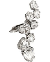 Ryan Storer - Metallic Rhodium-plated Swarovski Crystal Ear Cuff And Stud Earring - Lyst