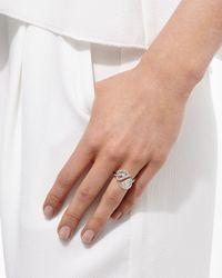Anita Ko - Multicolor Leaf 18k White Gold & Diamond Wrap Ring - Lyst