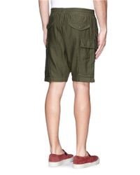 NLST - Green Drawstring Waistband Cargo Shorts for Men - Lyst
