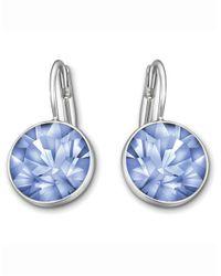 Swarovski Blue Bella Light Sapphire Crystal Earrings