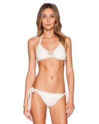 Anna Kosturova - Natural Brigette Bardot Bikini Top - Lyst