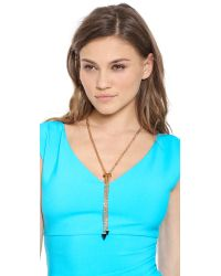 Vita Fede | Metallic Titan Necklace Rose Goldonyx | Lyst