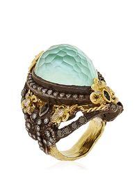 Armenta - Blue Fleurdelis Drop Ring - Lyst